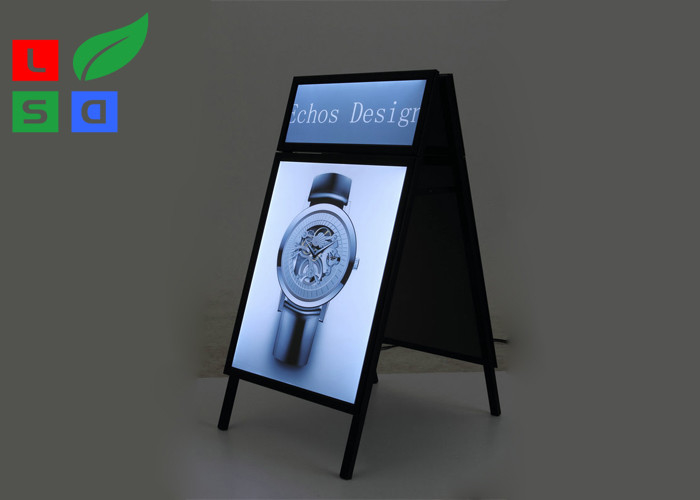 Snap Frame LED Illuminated Poster Frame 18mm Thickness For Floor Standing